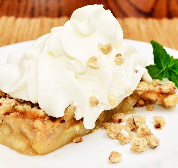 Dairy Creamy apple crumble