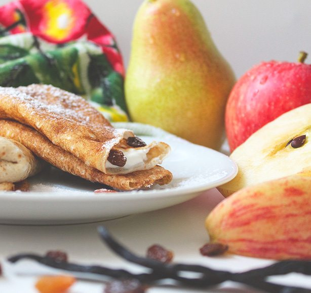 Irish Dairy Stewed Apple Cinnamon Pancakes