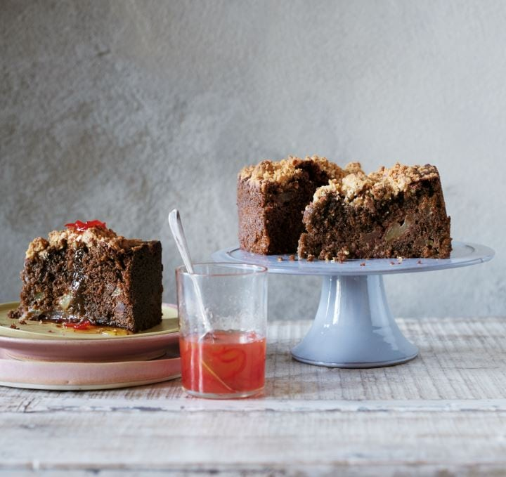 CHOCOLATE, PEAR AND CHILLI CAKE